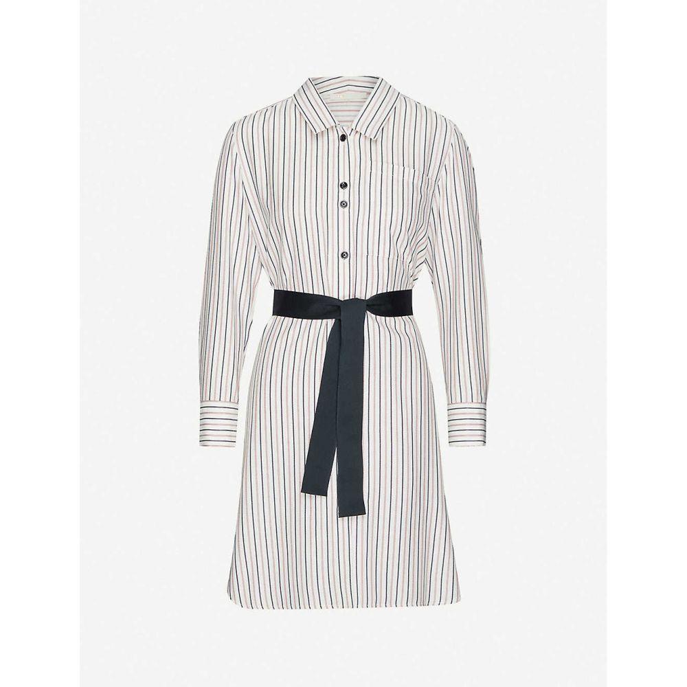 マージュ MAJE レディース ワンピース ワンピース・ドレス【Rayona striped woven dress】ECRU BLACK