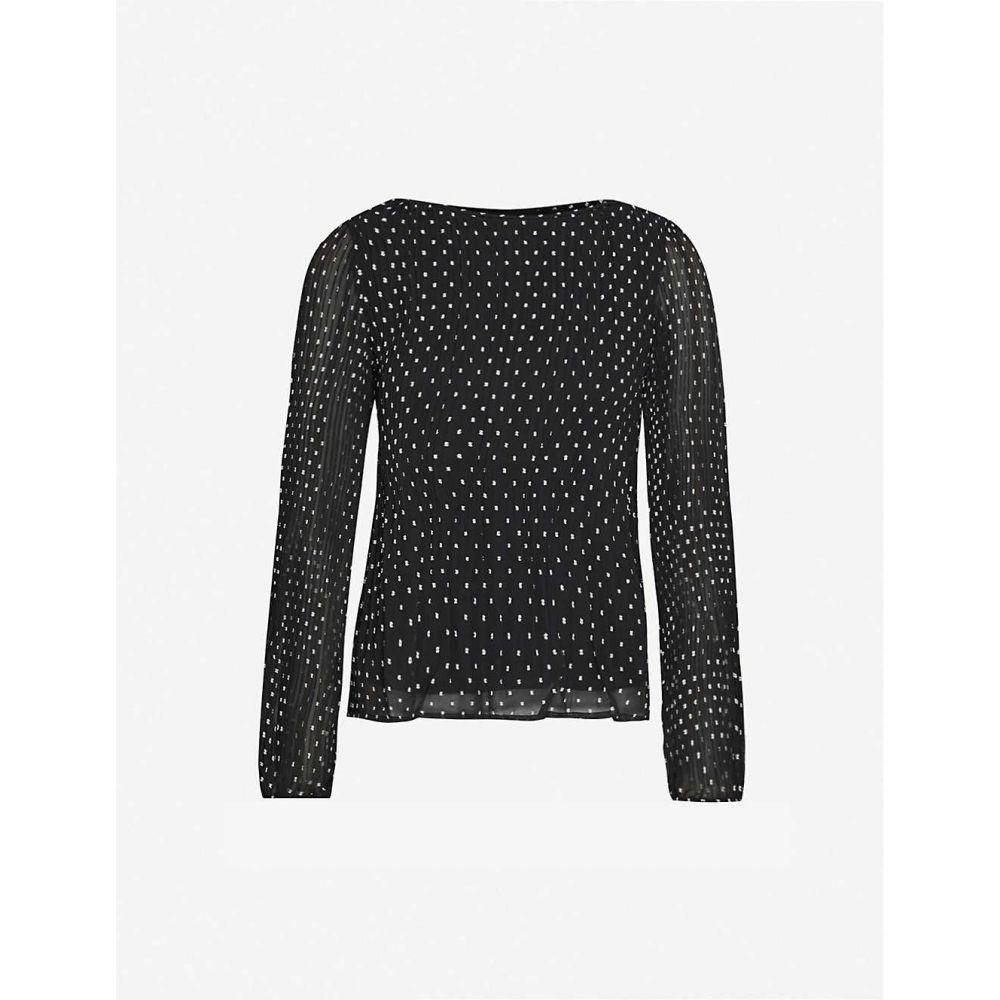 マージュ MAJE レディース ブラウス・シャツ トップス【Lockito crepe blouse】BLACK