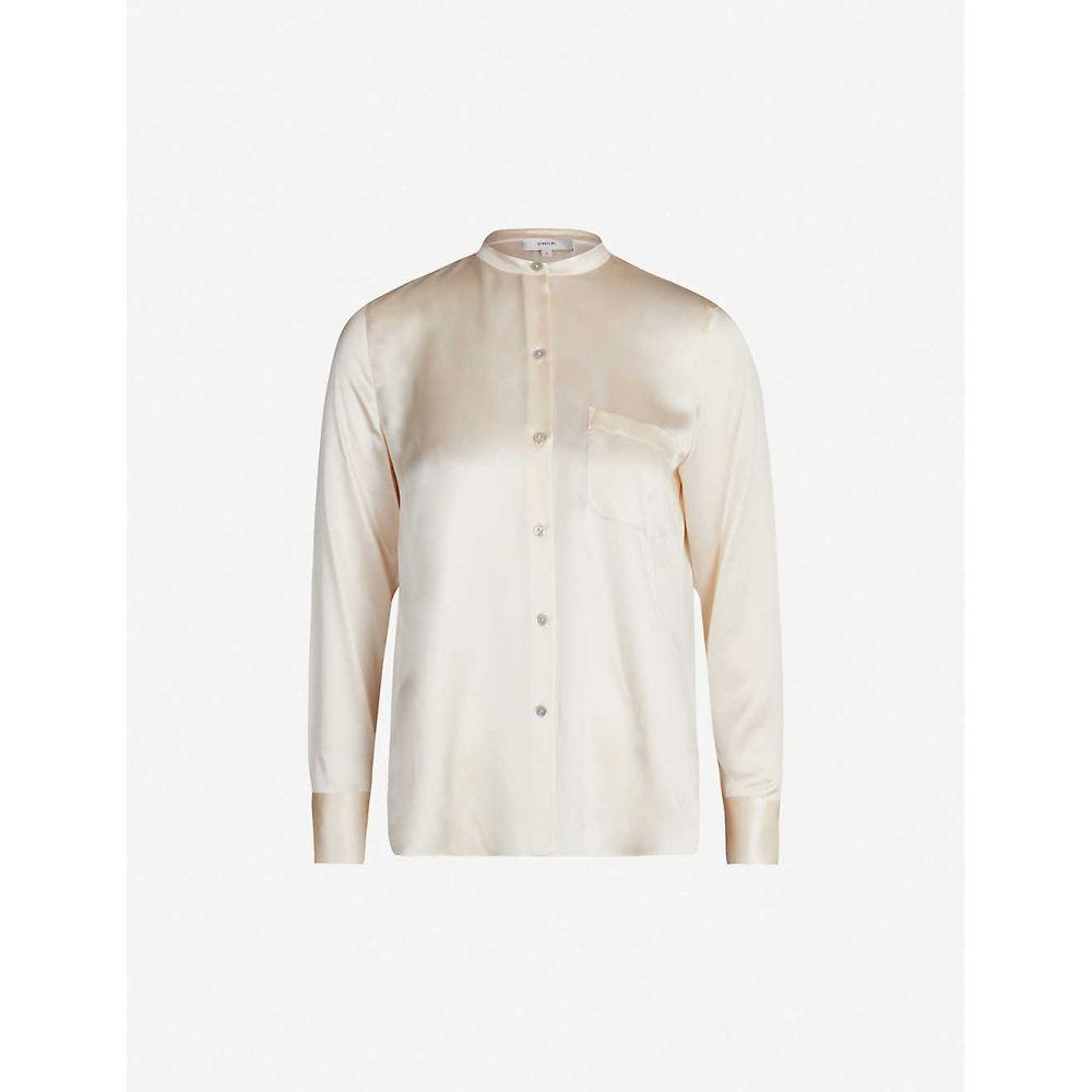 ヴィンス VINCE レディース ブラウス・シャツ トップス【Relaxed-fit silk-satin shirt】CHIFFON