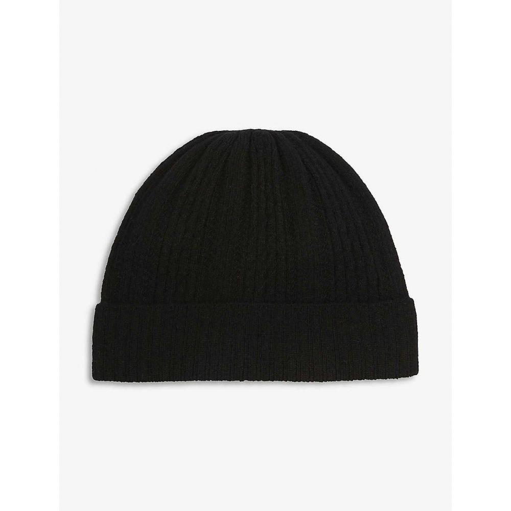 クローディ ピエルロ CLAUDIE PIERLOT レディース ニット ビーニー 帽子【Ribbed wool-blend beanie】Black
