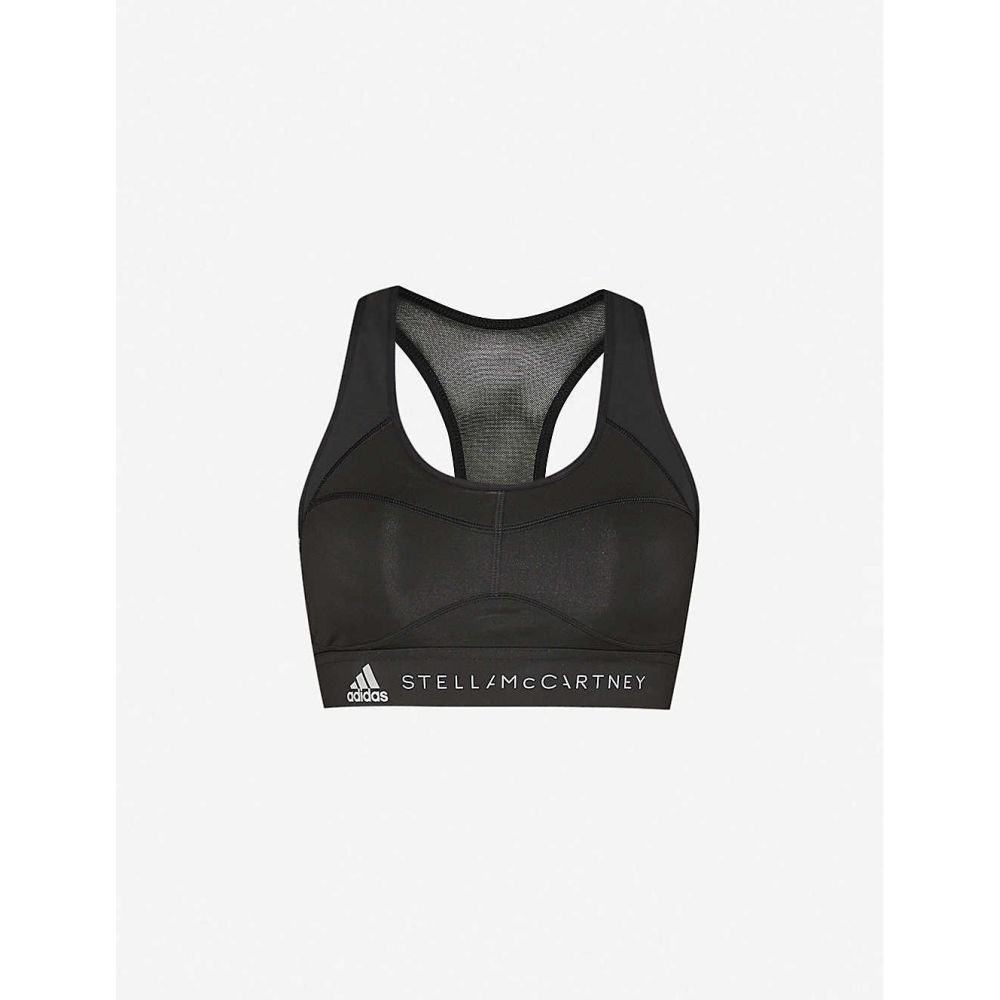 アディダス ADIDAS BY STELLA MCCARTNEY レディース スポーツブラ インナー・下着【Performance Essentials stretch-recycled polyester sports bra】Black Explo