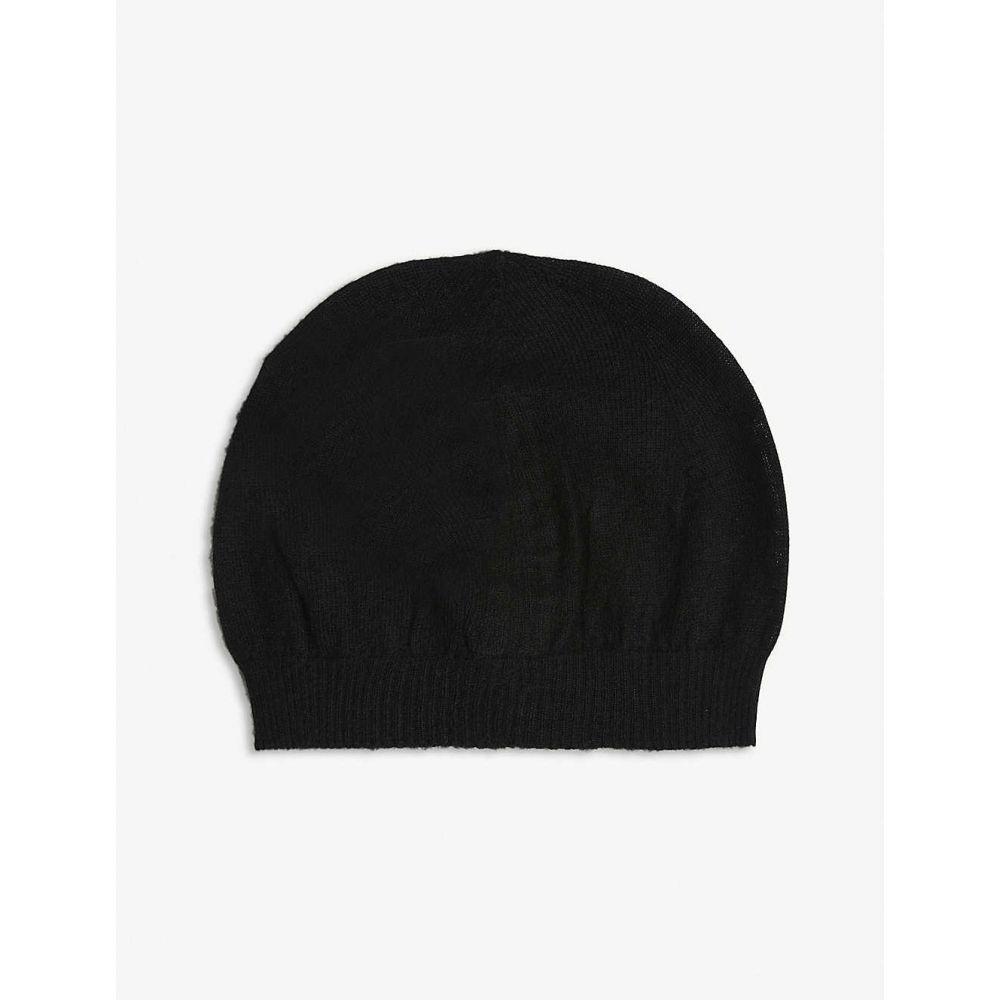 リック オウエンス RICK OWENS レディース ニット ビーニー 帽子【Cashmere beanie hat】BLACK