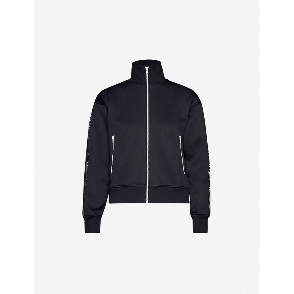 ケンゾー KENZO レディース ジャケット アウター【Logo-print high-neck stretch-jersey jacket】BLACK