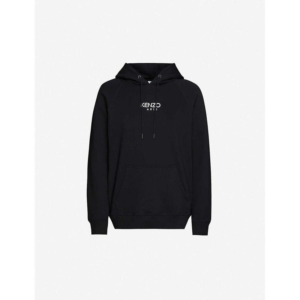 ケンゾー KENZO レディース パーカー トップス【Logo-print cotton-jersey hoody】BLACK