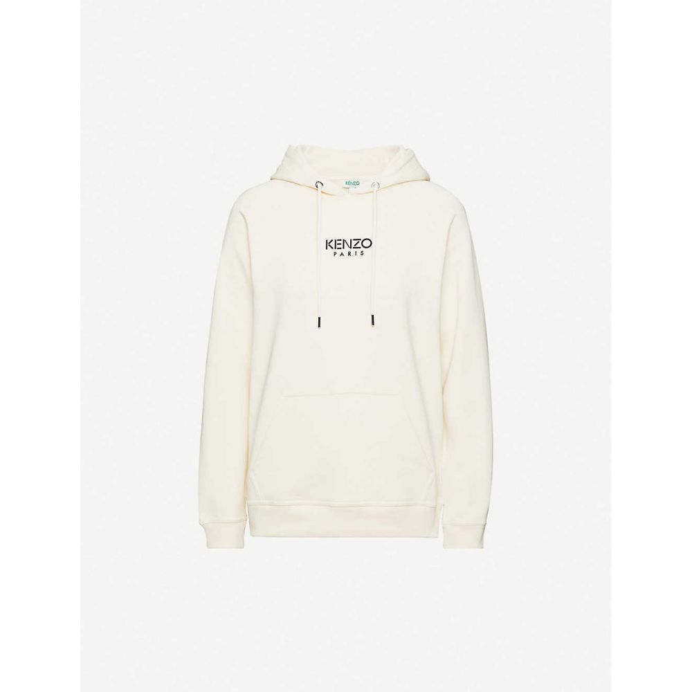 ケンゾー KENZO レディース パーカー トップス【Logo-print cotton-jersey hoody】ECRU