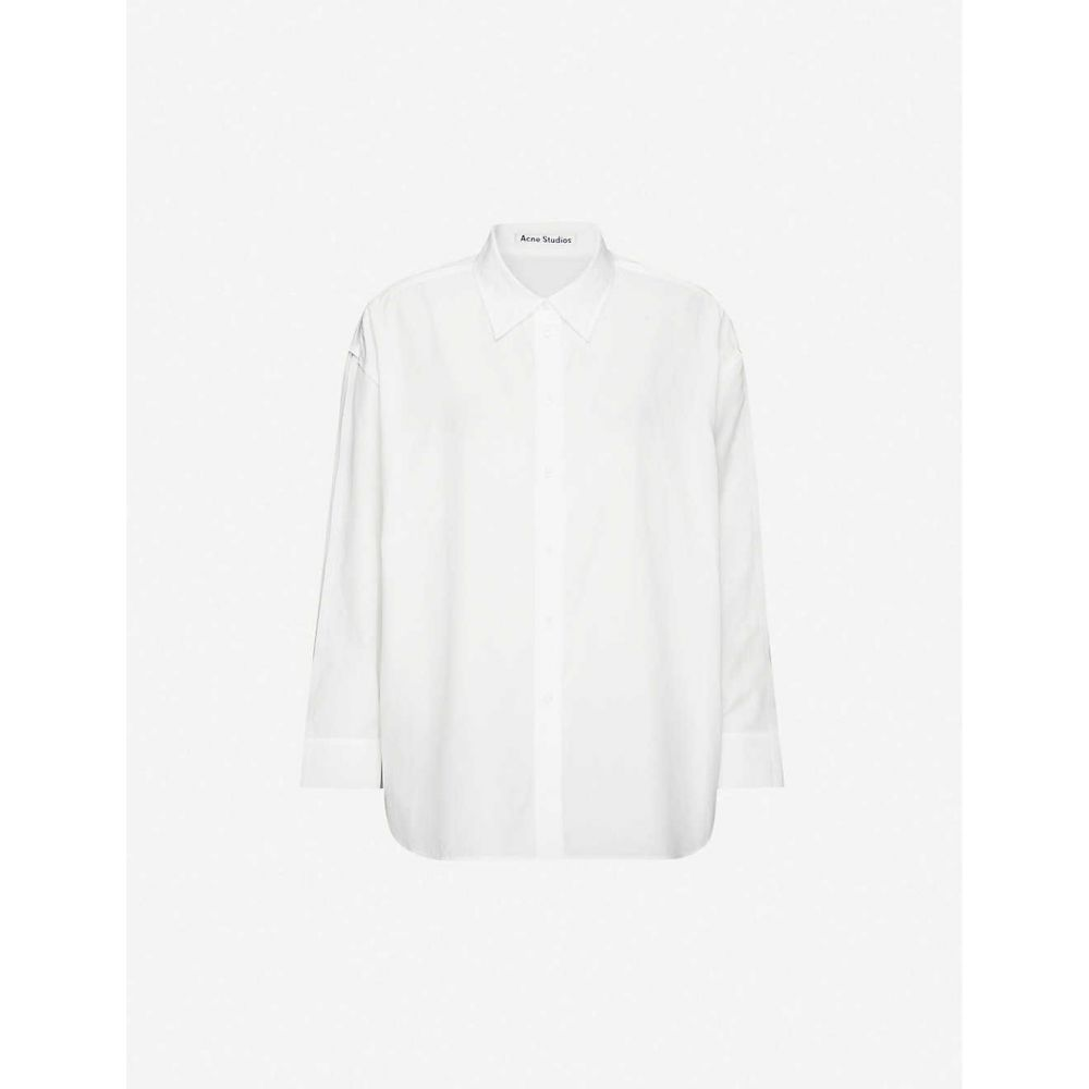アクネ ストゥディオズ ACNE STUDIOS レディース ブラウス・シャツ トップス【Relaxed-fit cotton-poplin shirt】White