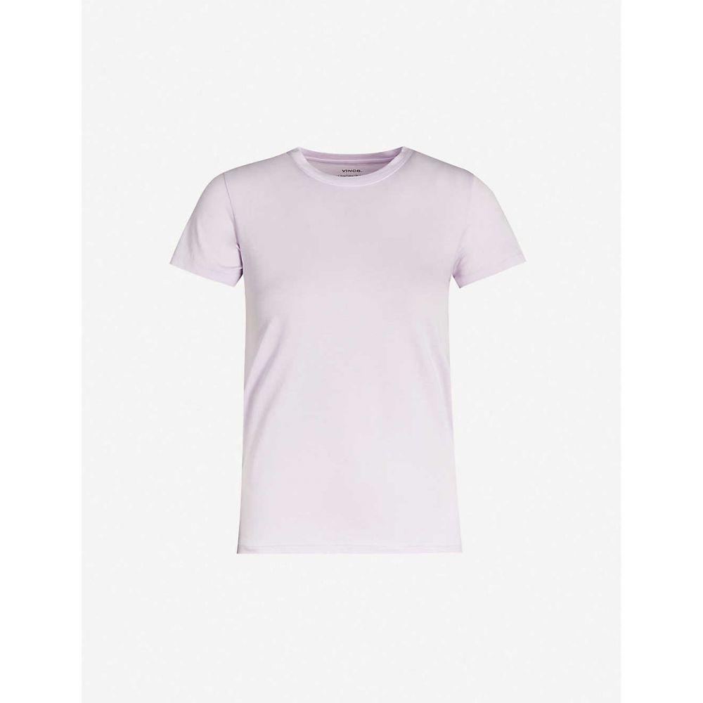 ヴィンス VINCE レディース Tシャツ トップス【Essential cotton-jersey T-shirt】Lily Stone