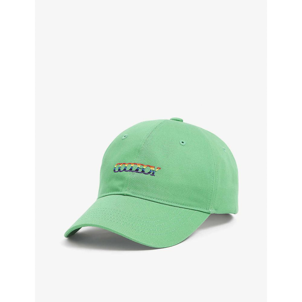 XOXOGOODBOY メンズ ニット ビーニー 帽子【Logo cotton beanie hat】Green