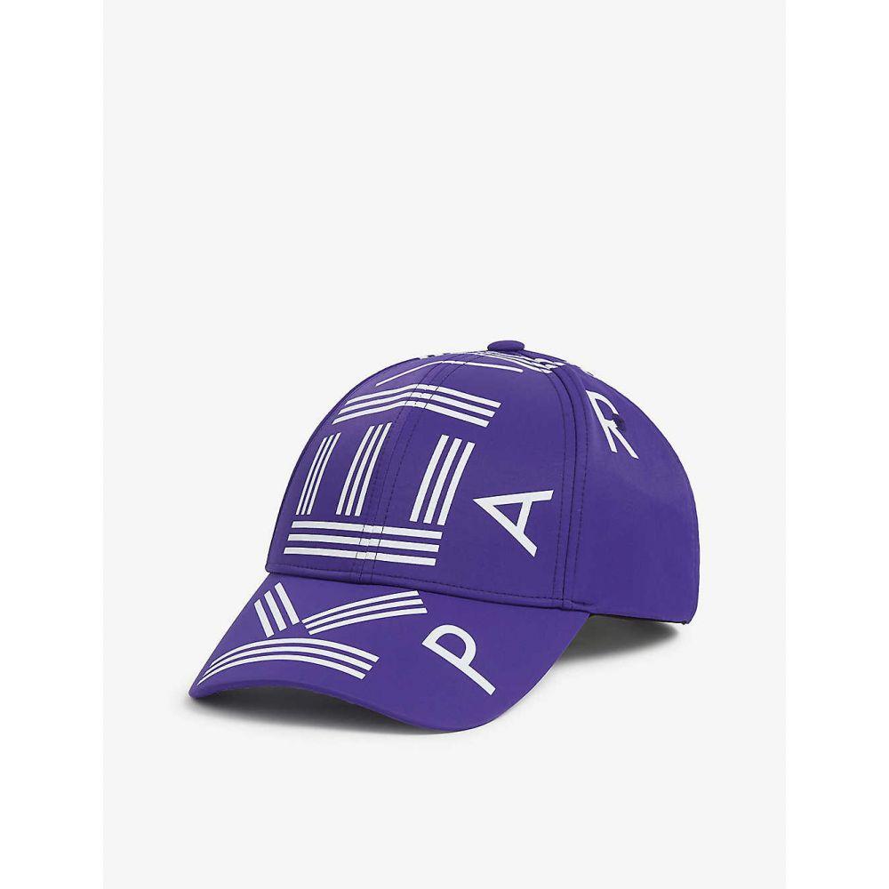 ケンゾー KENZO メンズ 帽子 【Logo-print nylon cap】AUBERGINE