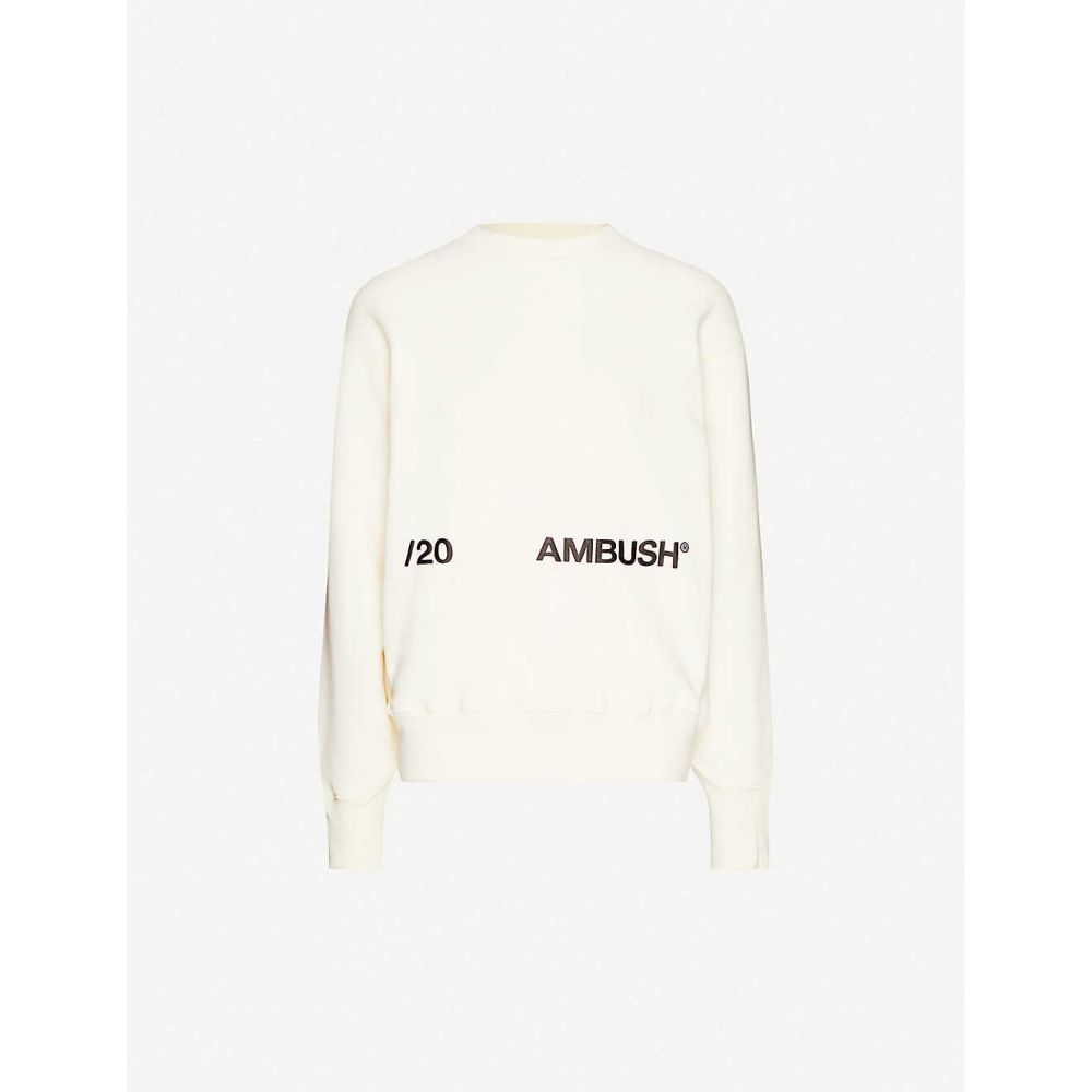 アンブッシュ AMBUSH レディース スウェット・トレーナー トップス【Logo-print cotton-jersey sweatshirt】Off White