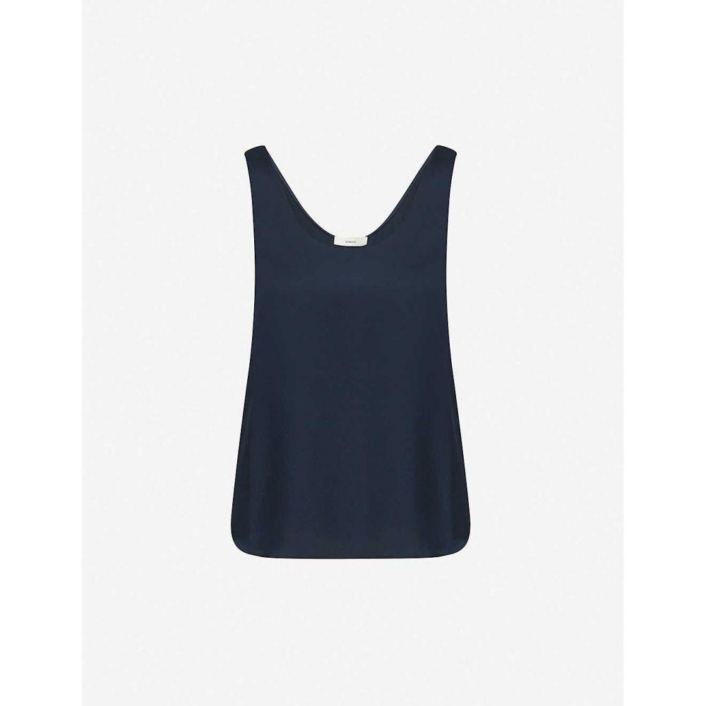 ヴィンス VINCE レディース ノースリーブ トップス【Silk vest top】Coastal/cbl