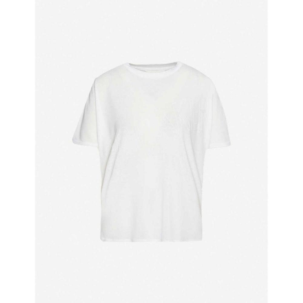 テッドベーカー TED BAKER レディース Tシャツ トップス【Tonal branded stretch-jersey T-shirt】WHITE