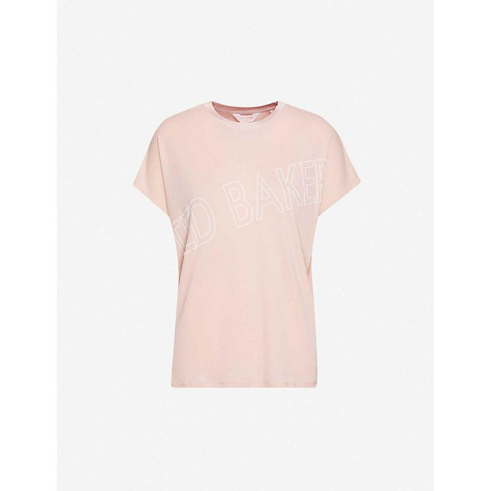 テッドベーカー TED BAKER レディース Tシャツ トップス【Tonal branded stretch-jersey T-shirt】PL/PINK