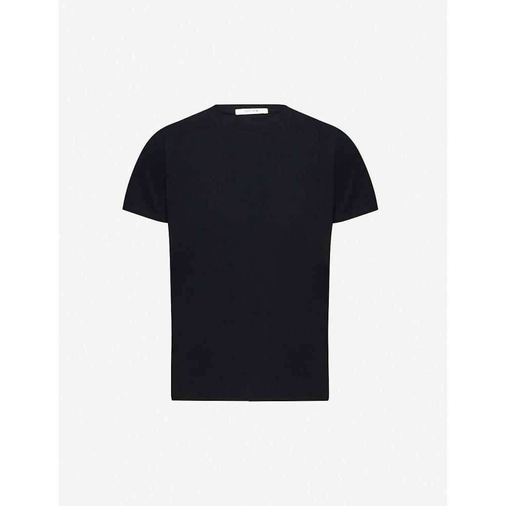 ザ ロウ THE ROW レディース Tシャツ トップス【Wesler cotton-jersey T-shirt】BLACK