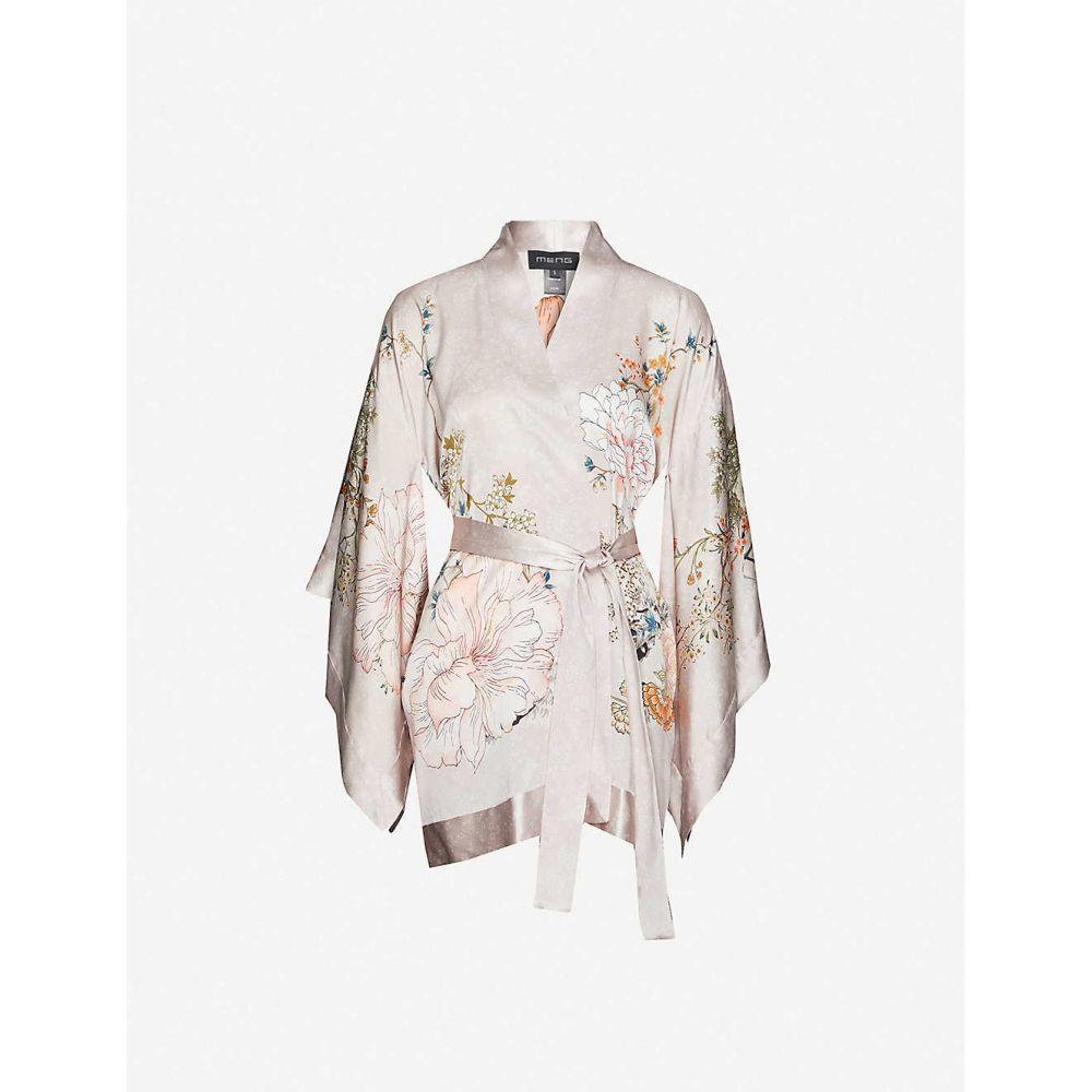 メン MENG レディース ガウン・バスローブ インナー・下着【Floral-pattern silk-satin kimono】Pink