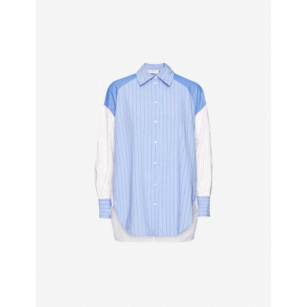 サンドロ SANDRO レディース ブラウス・シャツ トップス【Kim striped woven shirt】BLUE WHITE