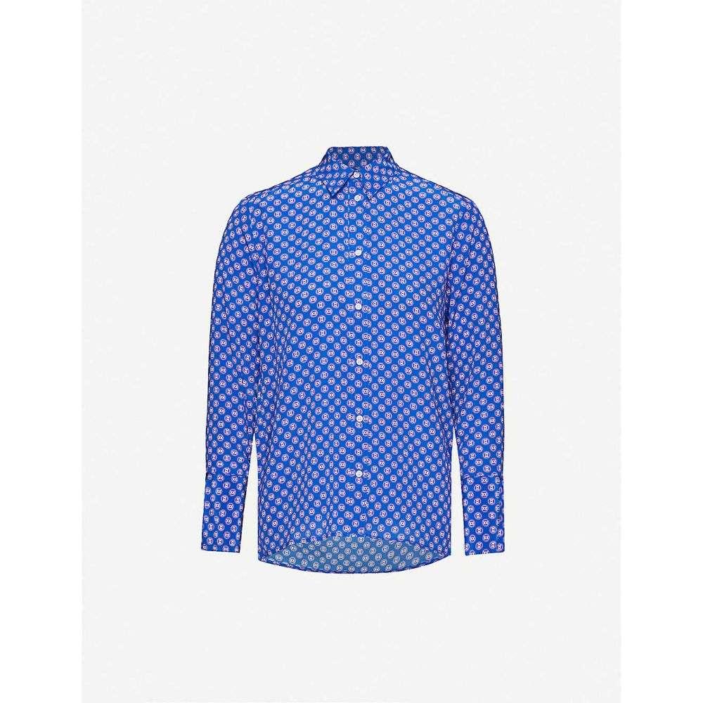サンドロ SANDRO レディース ブラウス・シャツ トップス【Doryn silk print blouse】BLUE