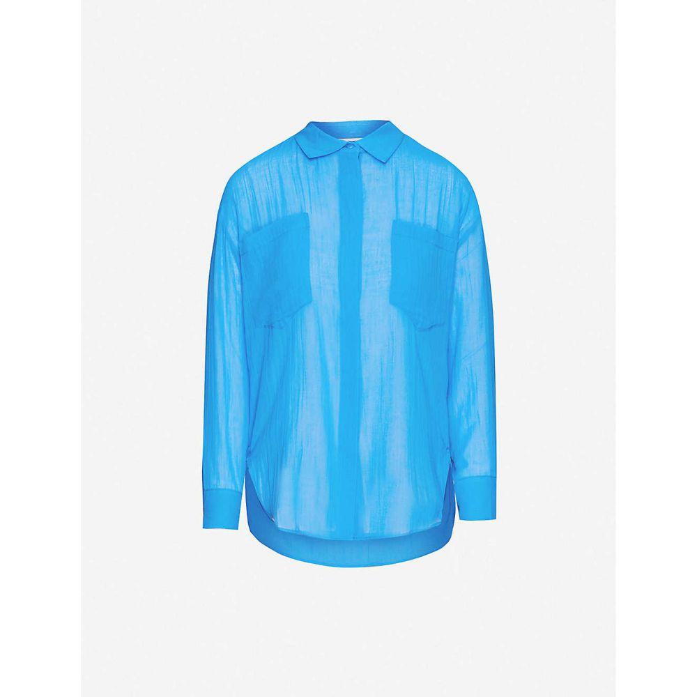 マージュ MAJE レディース ブラウス・シャツ トップス【Cazelle cotton shirt】BLUE