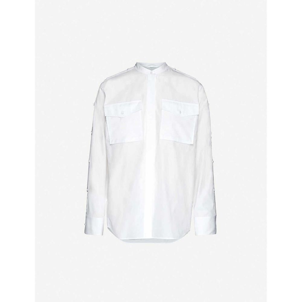 ヘルムート ラング HELMUT LANG レディース ブラウス・シャツ トップス【Button-shoulders cotton shirt】White