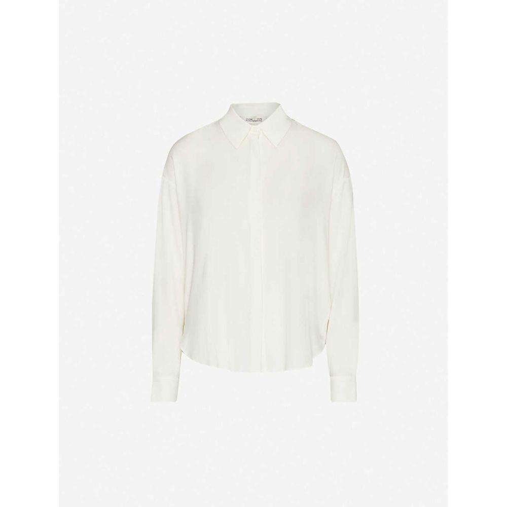 ダイアン フォン ファステンバーグ DIANE VON FURSTENBERG レディース ブラウス・シャツ トップス【Leanna loose-fit silk-crepe shirt】Ivory