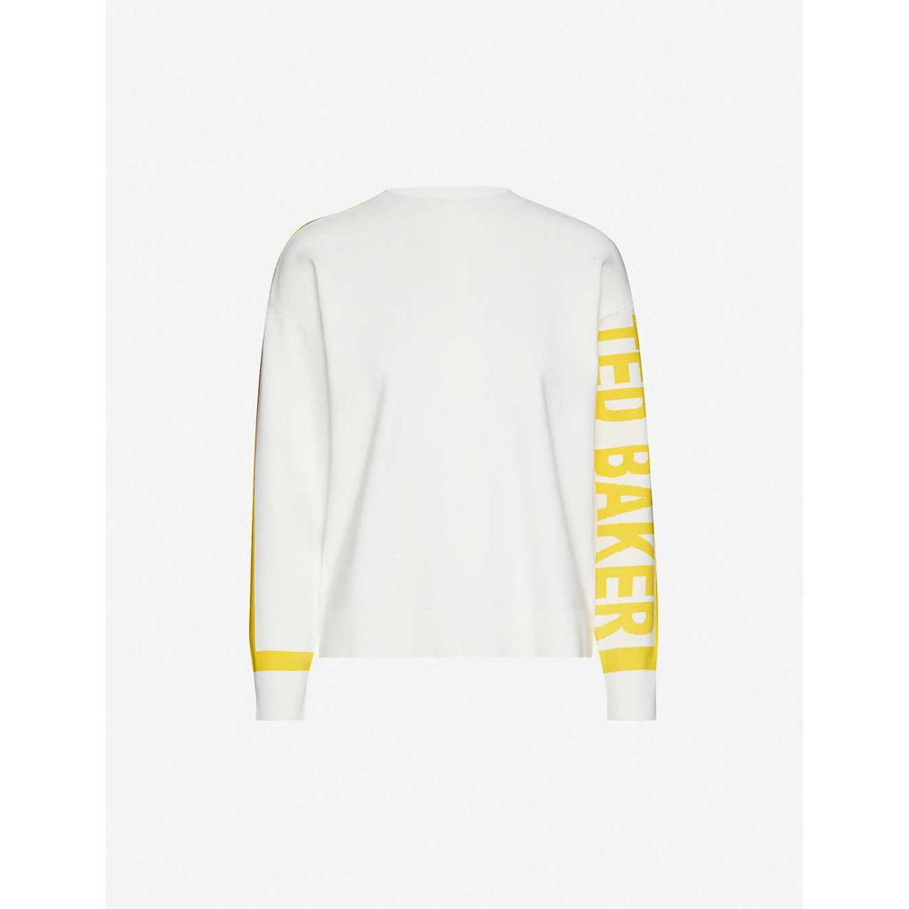 テッドベーカー TED BAKER レディース ニット・セーター トップス【Clanthy branded stretch-jersey jumper】WHITE
