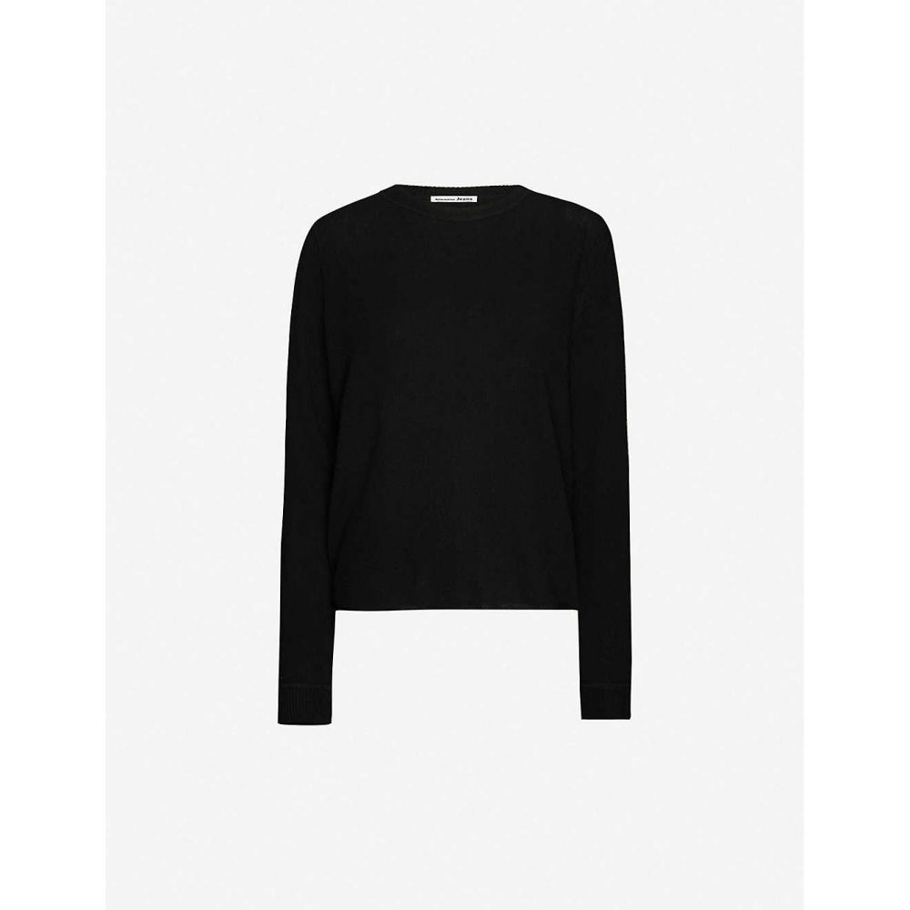 リフォーメーション REFORMATION レディース ニット・セーター トップス【Round-neck cashmere-knitted jumper】BLACK