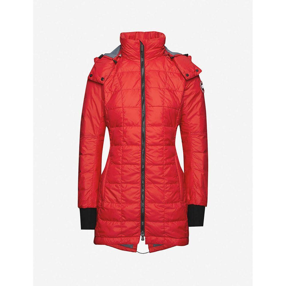 カナダグース CANADA GOOSE レディース ダウン・中綿ジャケット アウター【Ellison slim-fit shell-down jacket】Red