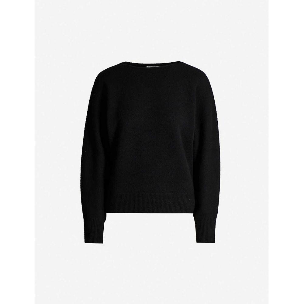 ヴィンス VINCE レディース ニット・セーター トップス【Boat-neck relaxed-fit cashmere jumper】BLACK