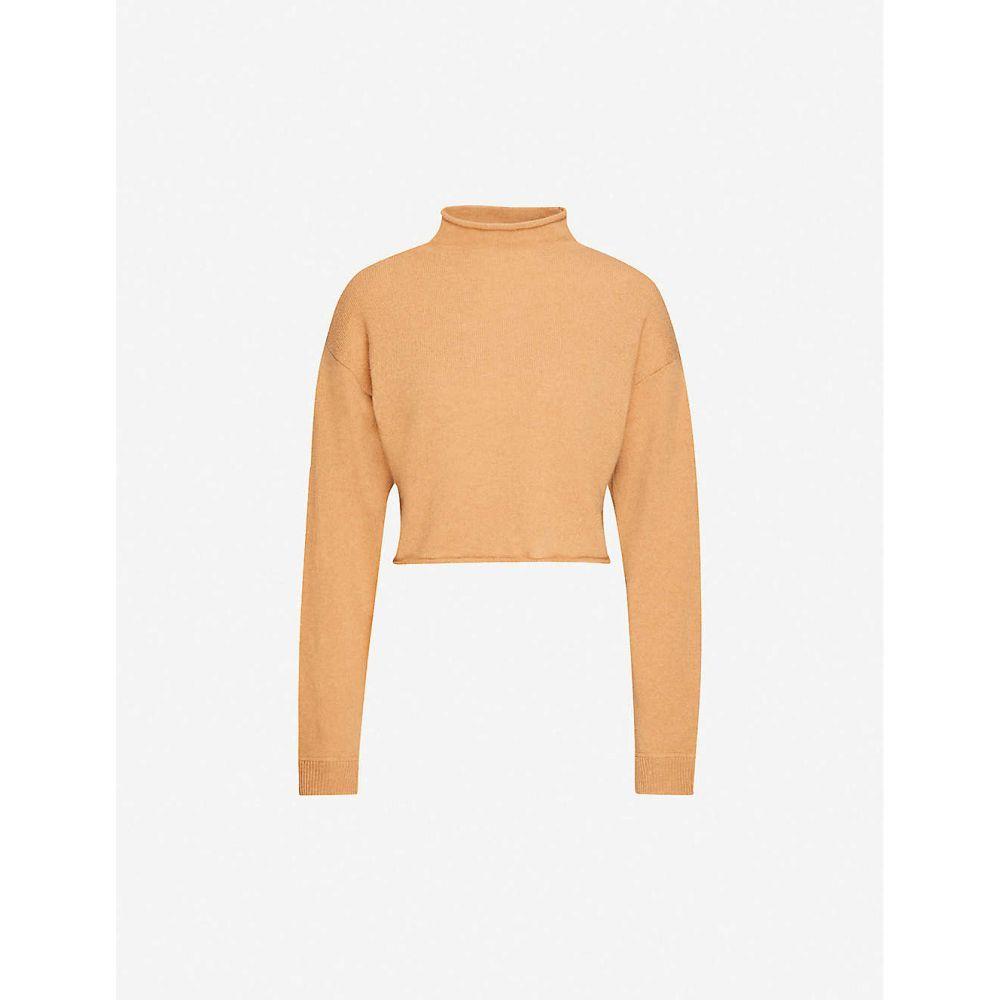 リフォーメーション REFORMATION レディース ニット・セーター トップス【High-neck recycled cashmere knitted jumper】CAMEL