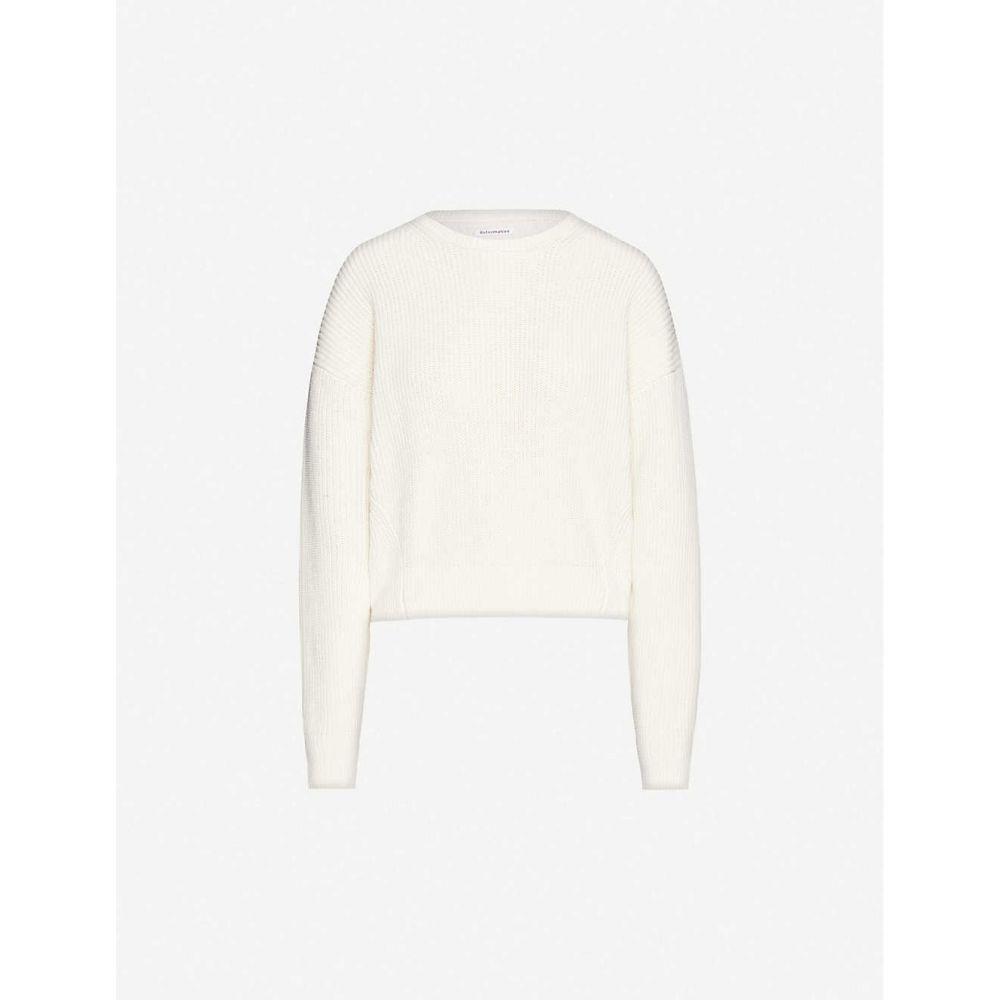 リフォーメーション REFORMATION レディース ニット・セーター トップス【Winnie relaxed organic cotton-knit jumper】CREAM