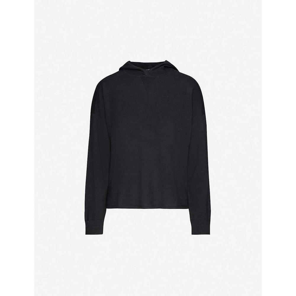ジェイ ブランド J BRAND レディース パーカー トップス【Gabriel cotton and cashmere-blend hoody】BLACK