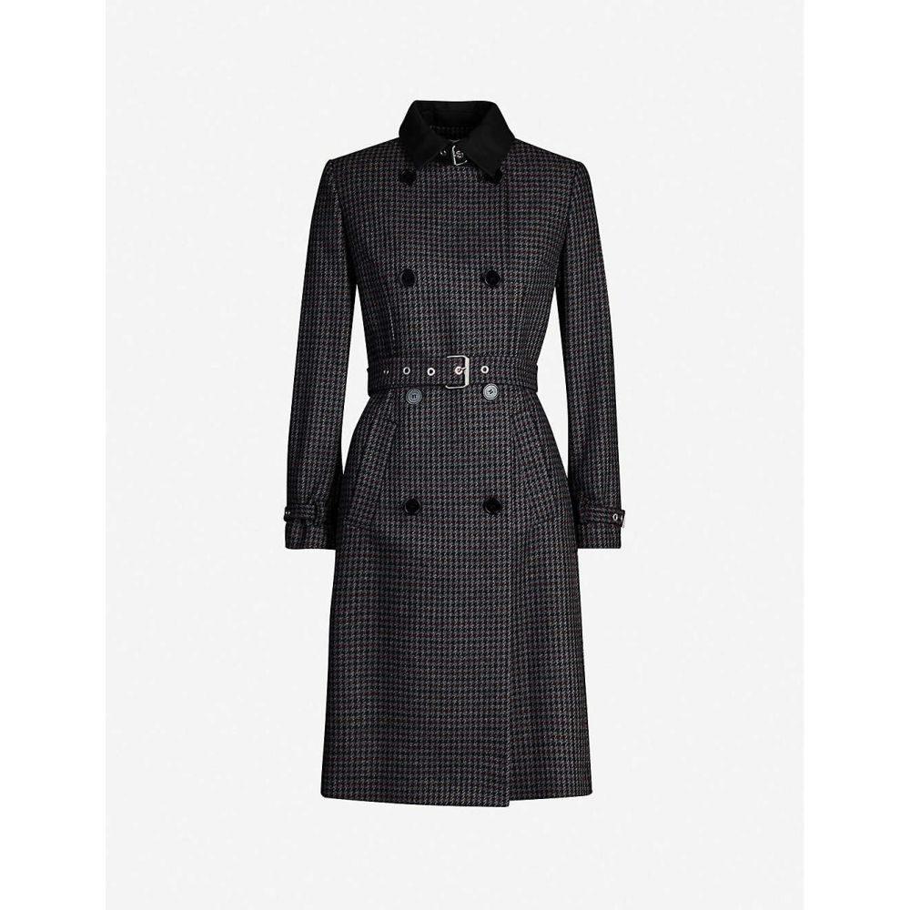 クローディ ピエルロ CLAUDIE PIERLOT レディース コート アウター【Checked wool-blend coat】MULTICO