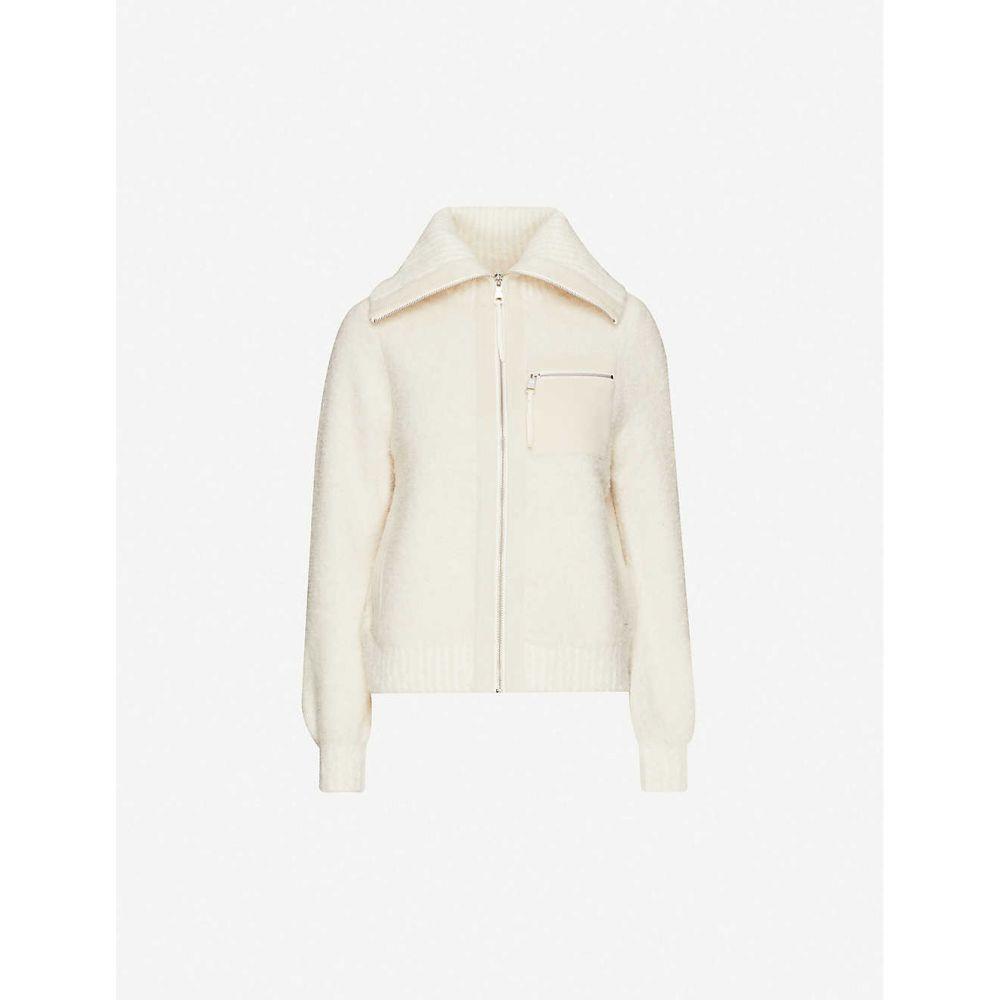 リース REISS レディース フリース トップス【Gina fleece jacket】CREAM