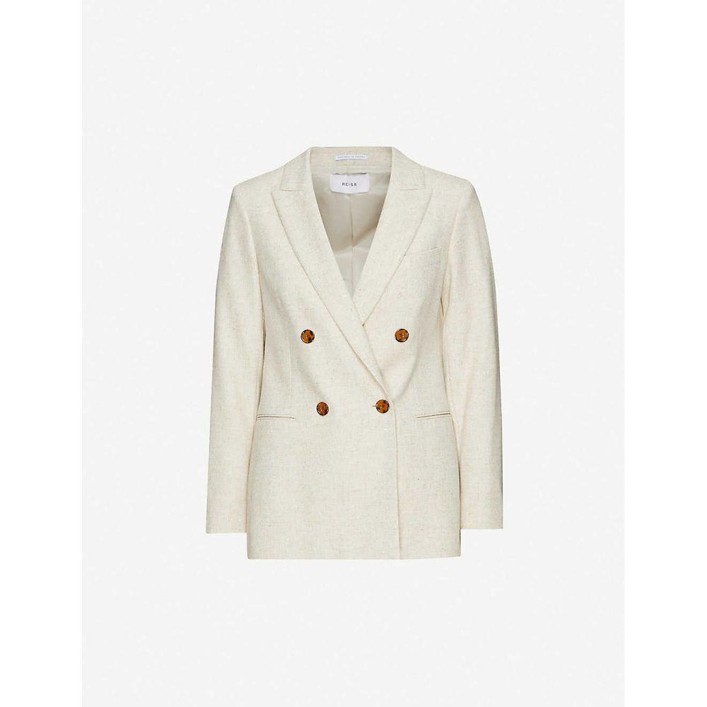 リース REISS レディース スーツ・ジャケット アウター【Lauren woven blazer】OATMEAL