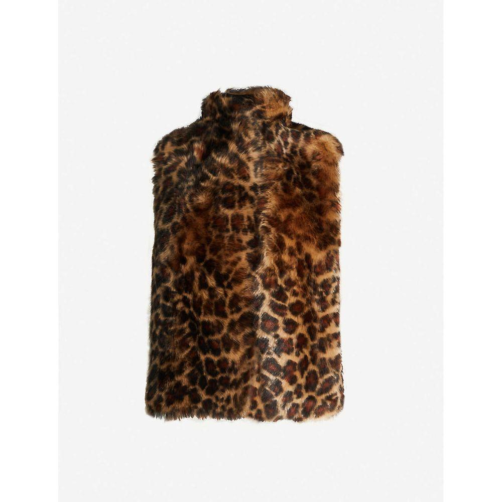 ホイッスルズ WHISTLES レディース ベスト・ジレ トップス【Toscana leopard-print faux-fur gilet】MULTI/COLOURED