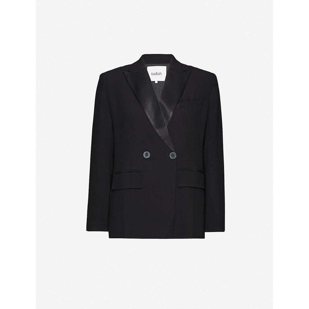 バッシュ BA&SH レディース スーツ・ジャケット アウター【Nidia double-breasted crepe blazer】BLACK