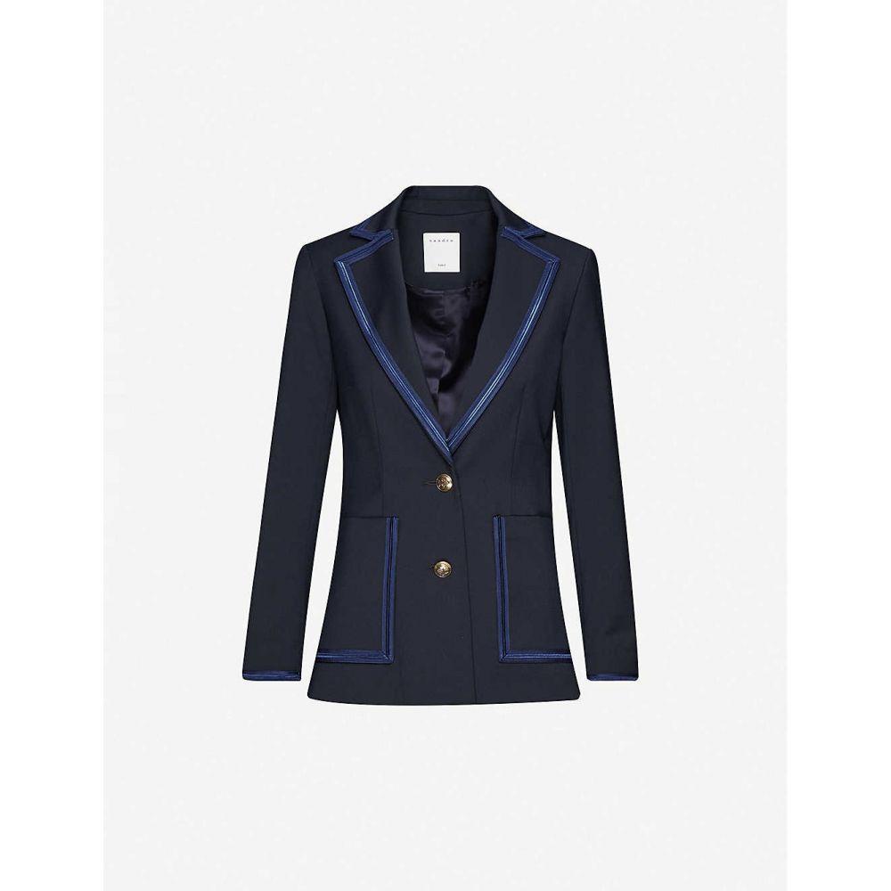 サンドロ SANDRO レディース スーツ・ジャケット アウター【Haney woven blazer】NAVY BLUE