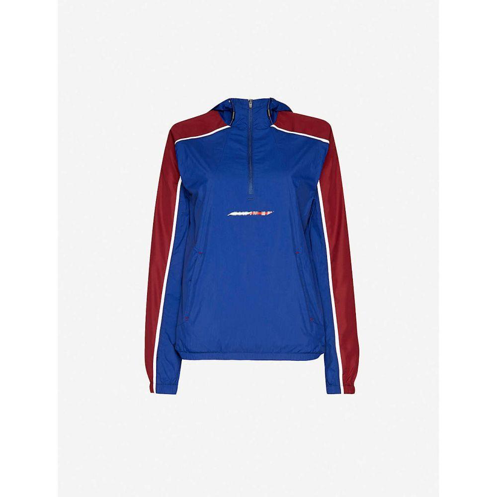 トミーヒルフィガー TOMMY SPORT レディース ジャケット フード シェルジャケット アウター【Colour-blocked hooded shell jacket】Ch Blue Ink