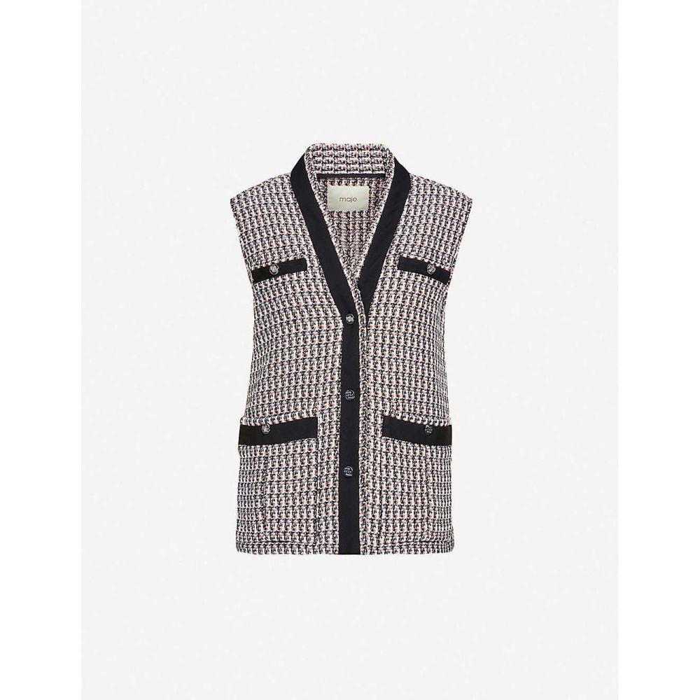 マージュ MAJE レディース ベスト・ジレ トップス【Vivi tweed vest】MULTI COLOURED