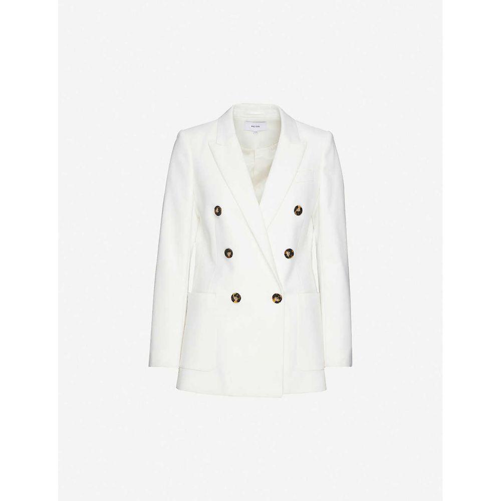 リース REISS レディース スーツ・ジャケット アウター【Astrid wool-blend blazer】IVORY