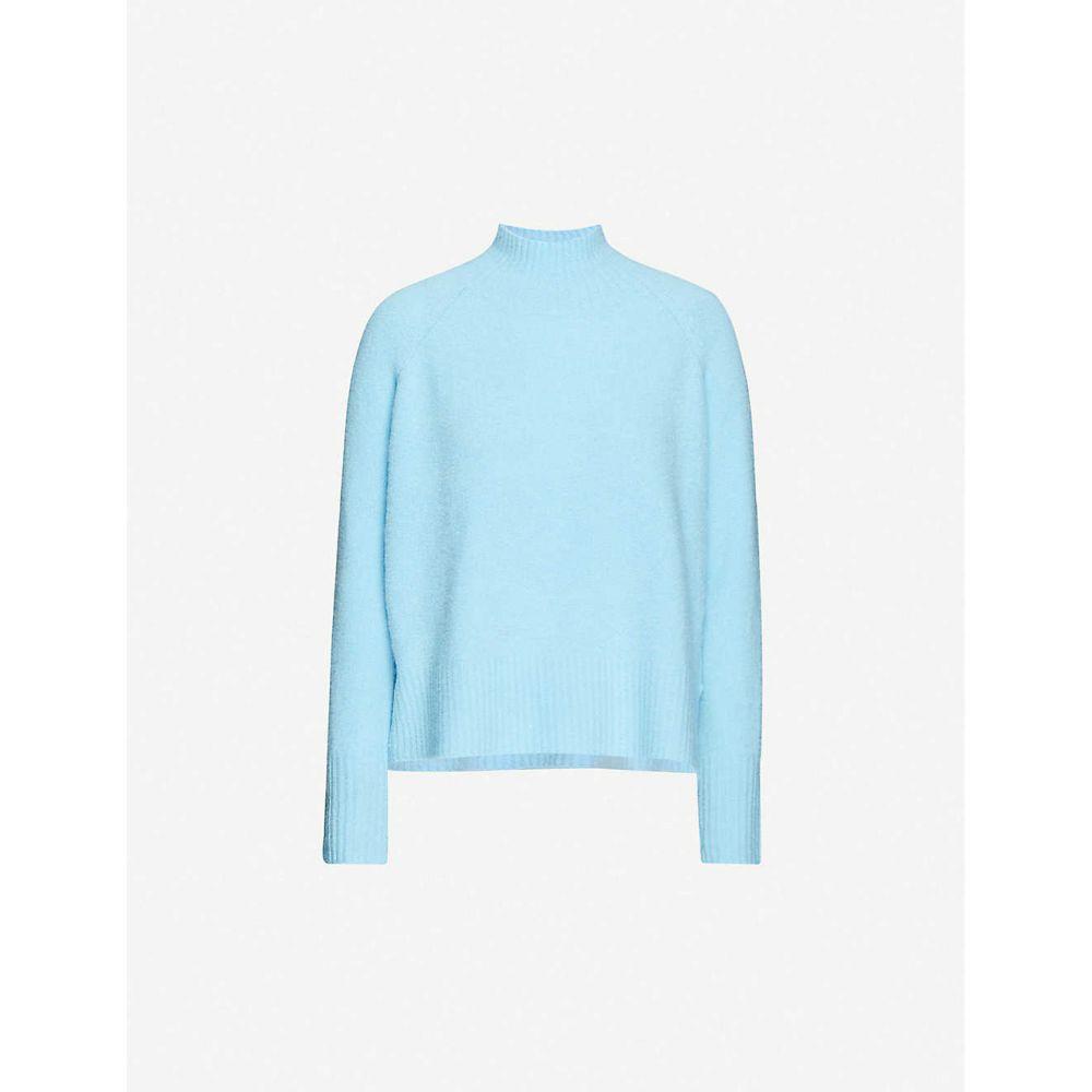ホイッスルズ WHISTLES レディース ニット・セーター トップス【Funnel-neck knitted jumper】PALE BLUE