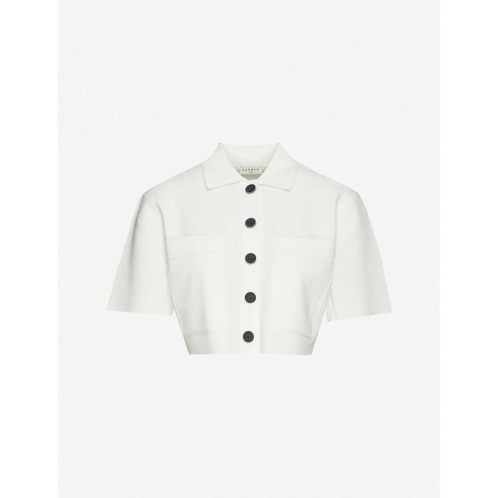 サンドロ SANDRO レディース カーディガン トップス【Elann stretch-jersey cardigan】WHITE
