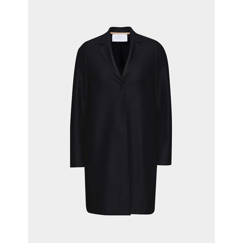 ハリスワーフロンドン HARRIS WHARF LONDON レディース コート アウター【Cocoon single-breasted pressed-wool coat】BLACK