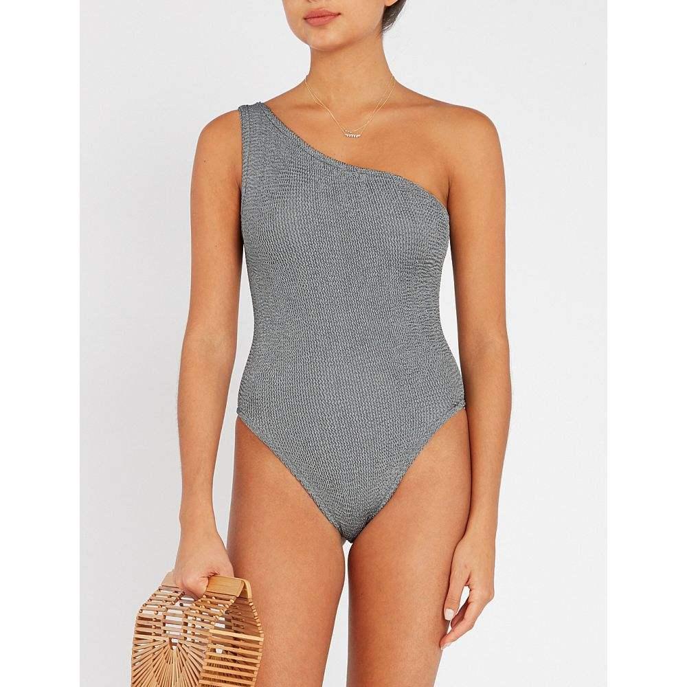 フンザG HUNZA G レディース ワンピース ワンショルダー 水着・ビーチウェア【Nancy one-shoulder swimsuit】GREY