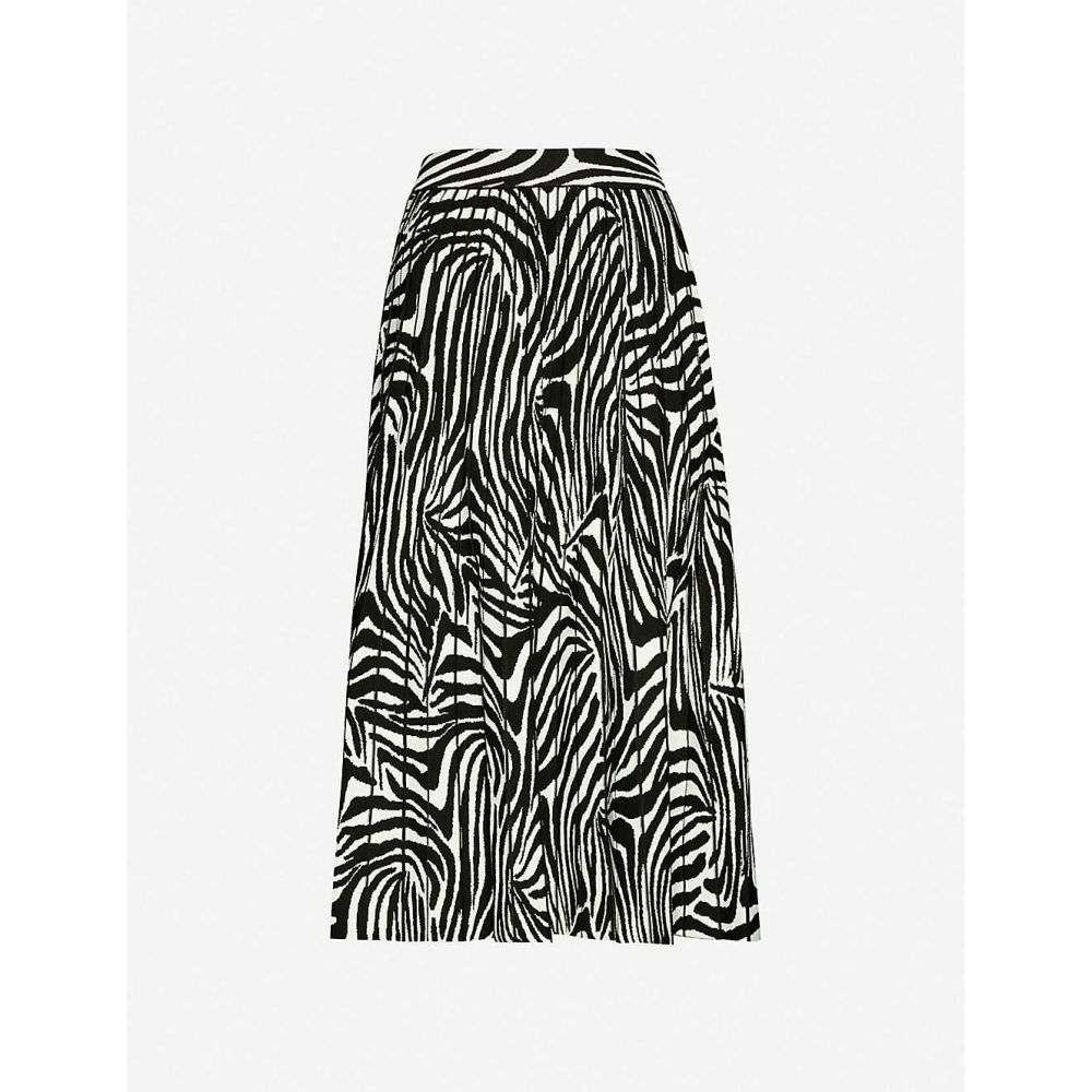 テッドベーカー TED BAKER レディース ミニスカート スカート【Viviynn zebra-print crepe midi skirt】BLACK