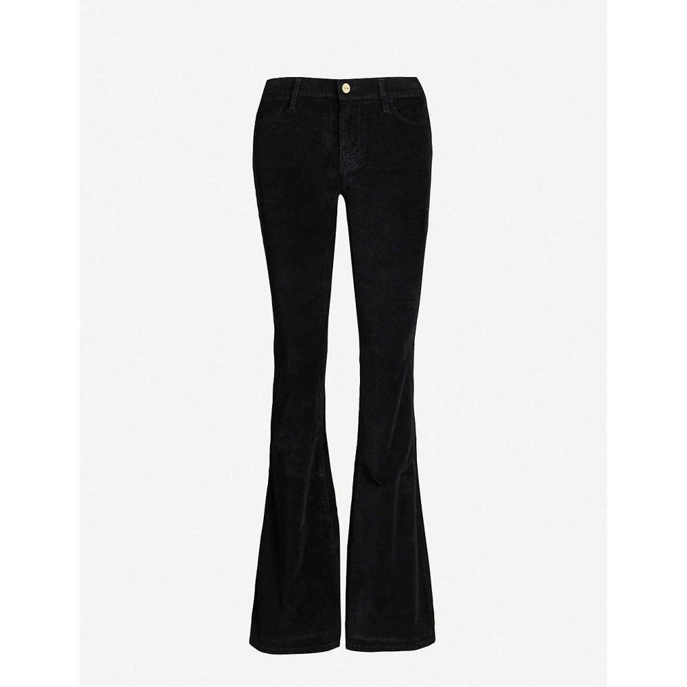 フレーム FRAME レディース ボトムス・パンツ 【Le High Flare high-rise velvet trousers】NOIR