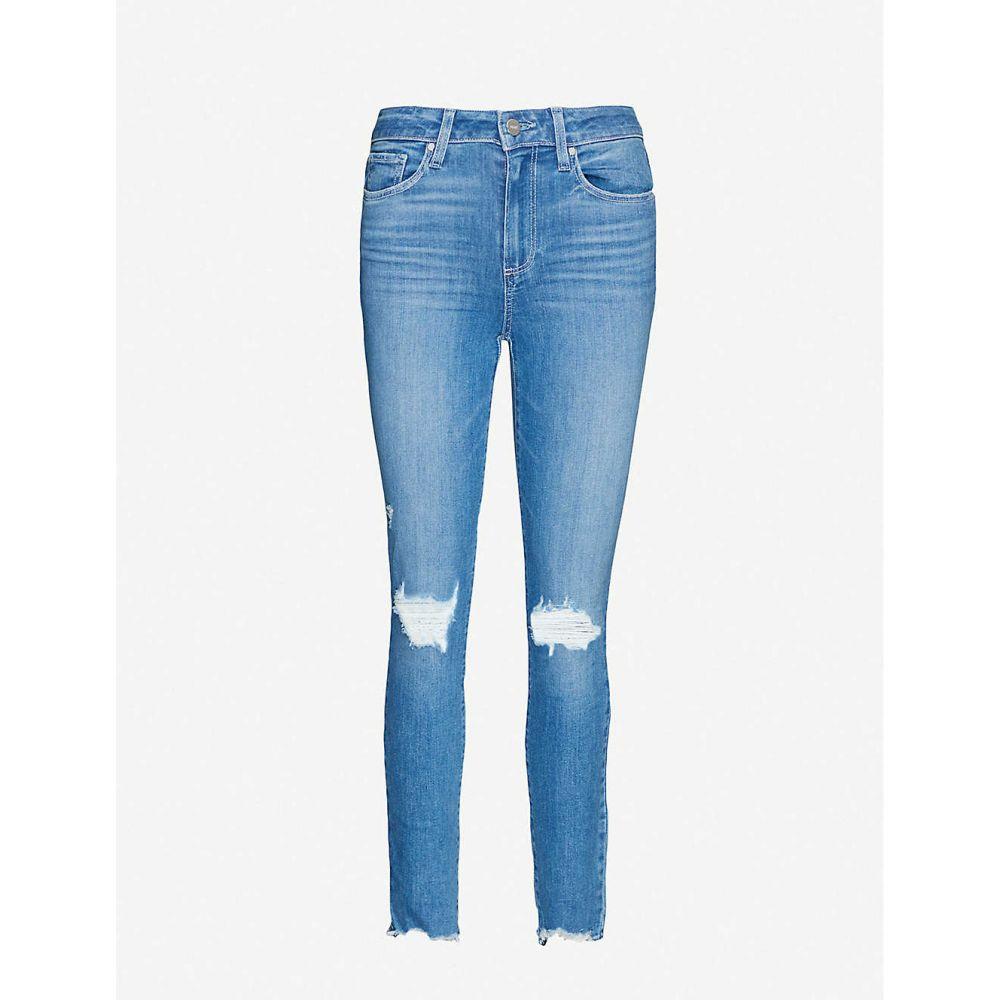 ペイジ PAIGE レディース ジーンズ・デニム リップドジーンズ ボトムス・パンツ【Hoxton ripped skinny high-rise jeans】Glacial Destructed