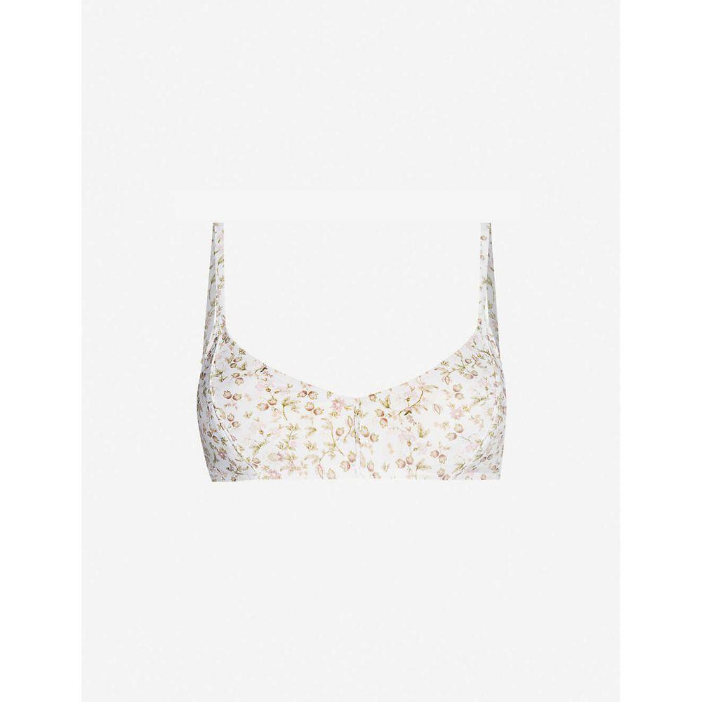 ポーニー PEONY レディース トップのみ 水着・ビーチウェア【La Boheme floral-print stretch-recycled polyamide bikini top】La Boheme