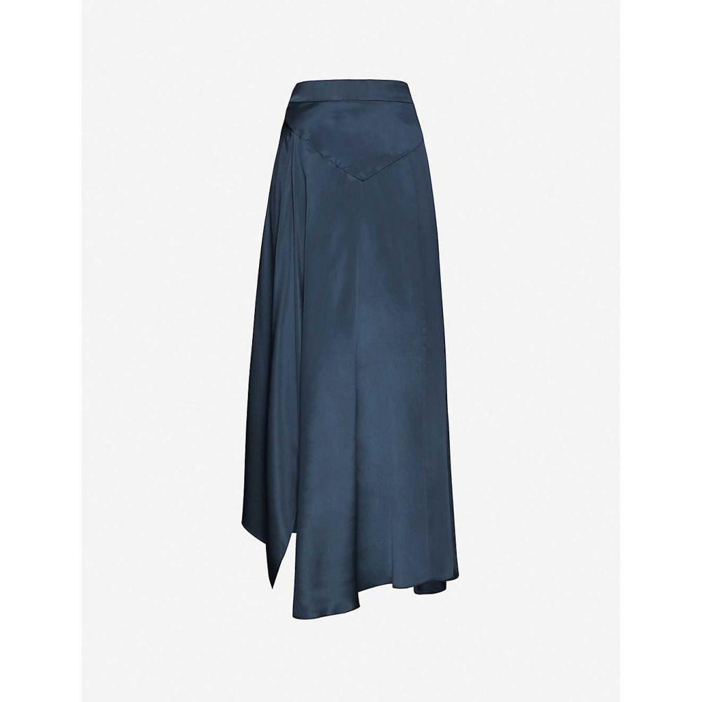 ルカシャ LE KASHA レディース ひざ丈スカート スカート【High-waisted silk midi skirt】CANARD