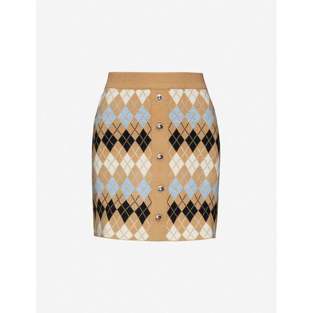 マージュ MAJE レディース ミニスカート スカート【Jilina wool-blend skirt】CAMEL